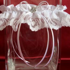 Подвязка невесты с цветочком 48