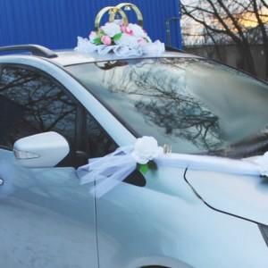 белая роза комплект на машину