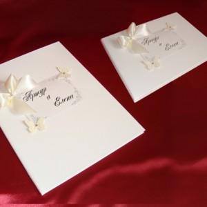 комплект3 Бабочки папка и книга пожеланий айвори