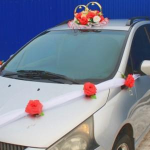 Комплект на машину красная роза1