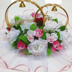 Кольца с орхидеями и розами на крышу 5