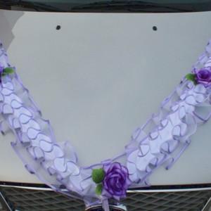 Сиренево-фиолетовое украшение на капот 50