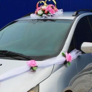 Розовый комплект на машину