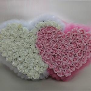Розовые и белые розы на радиатор 16