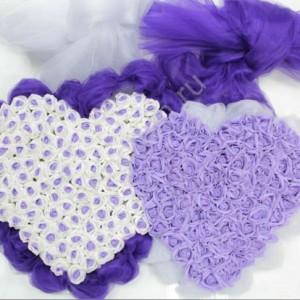 Фиолетовые сердца на радиатор 16