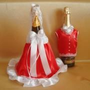 Одежда на шампанское красная 57