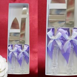 Сиреневый набор для свадебного торта 6