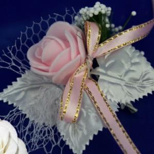 бутоньерка розовая 7