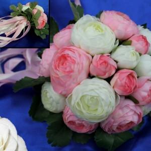 Букет дублер розовый 12