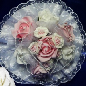 Букет дублер с розами розовый 27