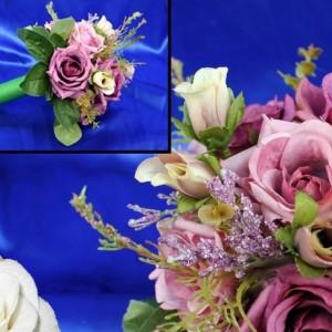 Букет дублер роза деним 8