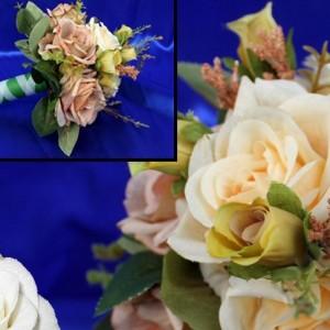 Букет дублер розы персиковый 9