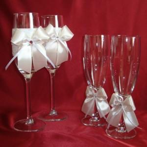 Свадебные бокалы и бокалы для битья айвори 140
