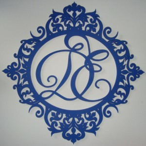 Герб синий для свадьбы 14