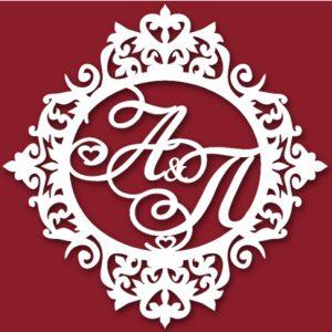 Герб с орнаментом на свадьбу 14