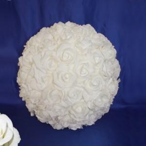 шар из роз белый 5