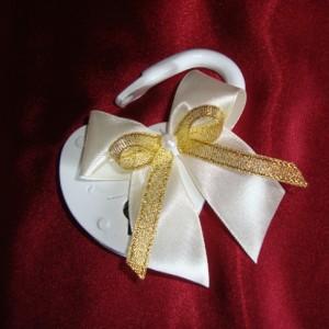 замочек на свадьбу с золотым бантиком 12