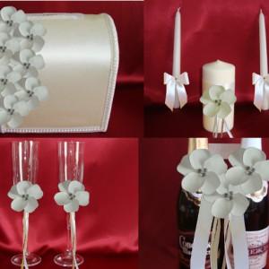 нежный цветок айвори комплект для свадьбы