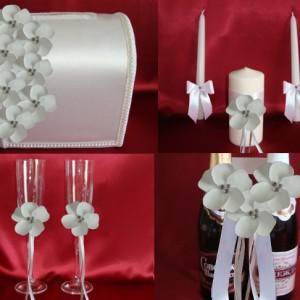 нежный цветок белый комплект для свадьбы