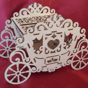 свадебный сундучок карета для денег
