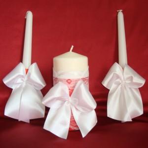 Свечи семейный очаг красные 65