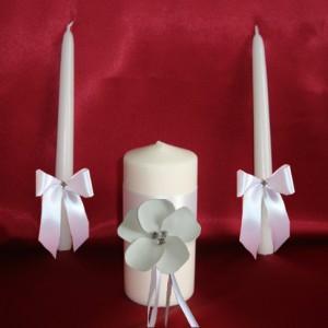 Свечи Семейный очаг Нежный цветок белые