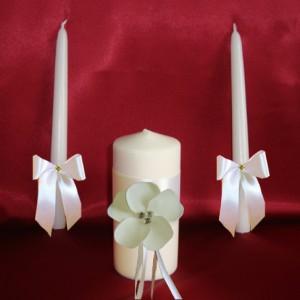 Свечи Семейный очаг Нежный цветок айвори