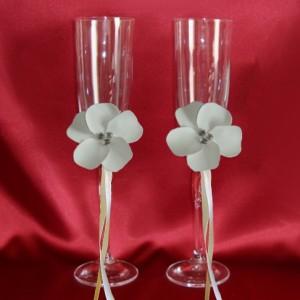 бокалы с цветами айвори 146