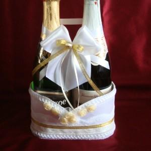 Корзиночка под шампанское на свадьбу 63