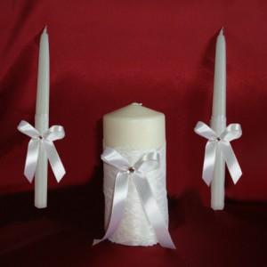 Ажурные свечи белые на свадьбу 68