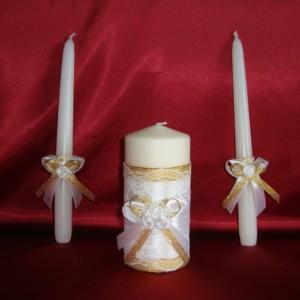 Свечи семейный очаг золотые 70