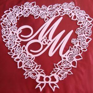 свадебный герб сердце из роз