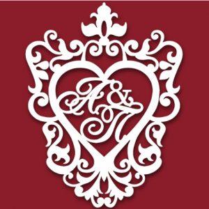 Герб на свадьбу сердце