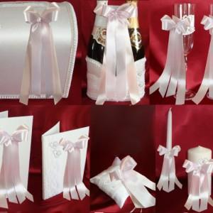 Комплект аксессуаров на свадьбу Настроение сирень персик