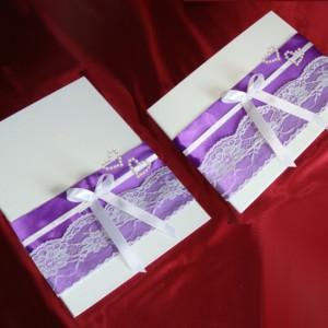 папка и книга пожеланий лиловый комплект 16
