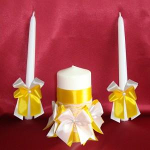 Свечи семейный очаг жёлтые 76