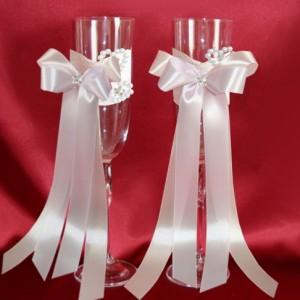 Бокалы персик сирень свадебные 150