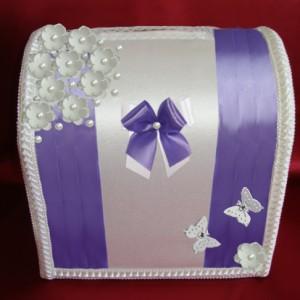 Фиолетовый сундучок для денег 102