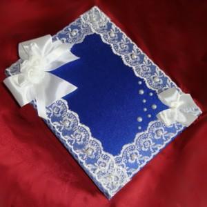 Синяя папка для свидетельства о браке 27