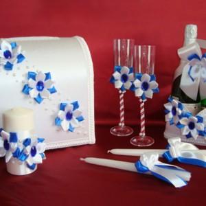 Набор аксессуаров для свадьбы синий