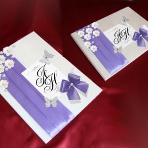 Папка и книга для пожеланий фиолетовые 19