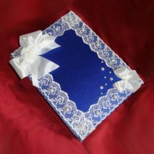 Синяя книнга для пожеланий с жемчугом 33