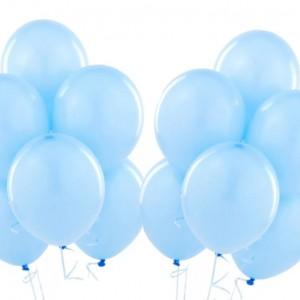 Голубые воздушные шарики