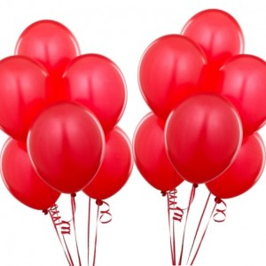 Красные воздушные шарики