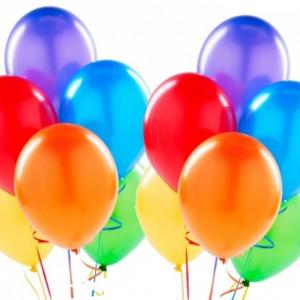 Воздушные шарики разноцветные