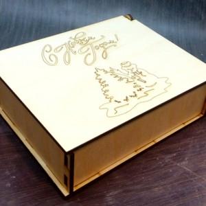 новогодняя упаковка в виде шкатулки 10