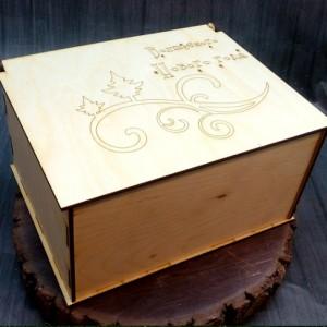 новогодняя коробка для подарка 21х16х10