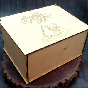 новогодняя коробка для подарков 21х16х10