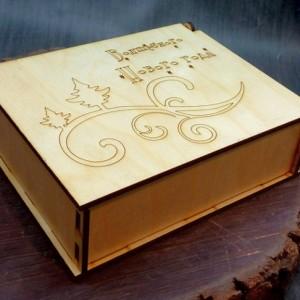 новогодняя коробка шкатулка для подарков 8