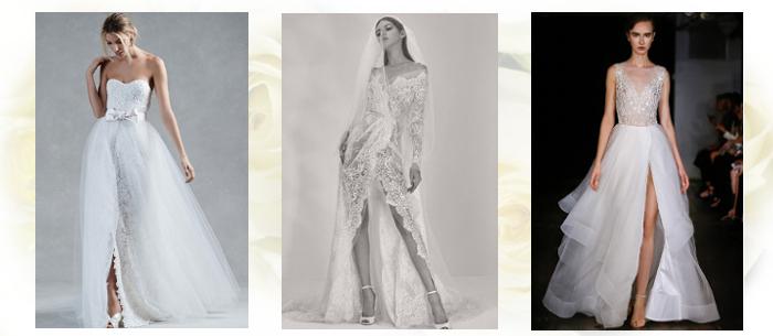 Свадебные платья с разрезом 2017-2018